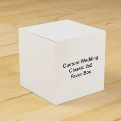 Custom Wedding  Classic 2x2 Favor Box