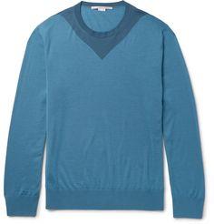 STELLA MCCARTNEY Colour-Block Wool Sweater. #stellamccartney #cloth #knitwear