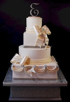 Bling Wedding Cake Toppers | Cup a Dee Cakes Blog: Super Bling Rhinestone Wedding Cake w/ Stand