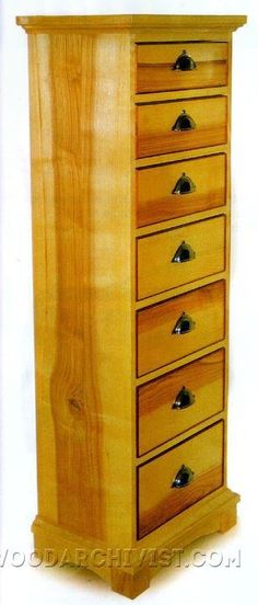 High Chest of Drawers Plans - Furniture Plans and Projects   WoodArchivist.com