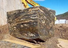 Nero Vulcano Granite Blocks