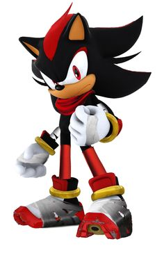 Someone's prediction of Shadow in Sonic Boom. Looks cool but....WHERE'S HIS CHEST FUR??!