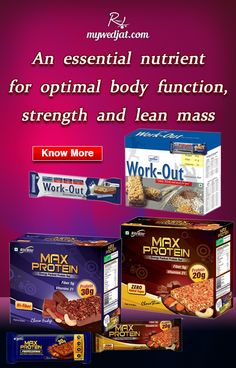 """""""Protein bars that provide you with the right amount of nutrients"""""""