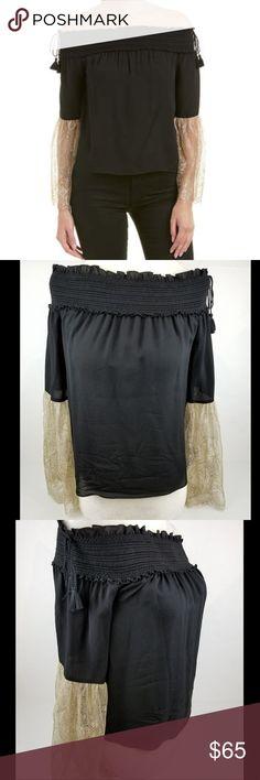92827b13042 Rachel Zoe Wylie Off Shoulder Lace Silk Top sz 0 Rachel Zoe. Wylie blouse.
