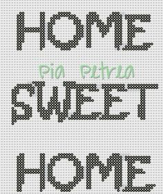 Home Sweet Home - Perler pattern by Pia Petrea