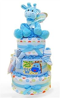 Baby Giraffe Diaper Cake For Baby Boy