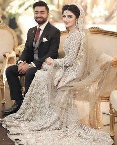 Bridal Drees Asian Walima Ideas For 2019 Asian Bridal Dresses, Asian Wedding Dress, Pakistani Wedding Outfits, Indian Bridal Outfits, Pakistani Wedding Dresses, Couple Wedding Dress, Wedding Dresses For Girls, Pakistan Bridal, Walima Dress