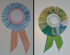 DIY medaille's maken voor op kaartjes of andere kadootje cadeautjes, heel gemakkelijk te maken van tijdschriften die je recycleert