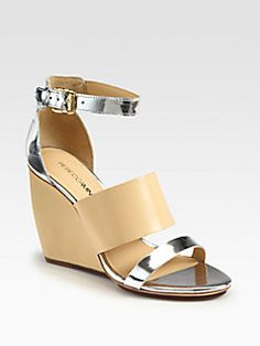 Rebecca Minkoff - Stella Leather Wedge Sandals