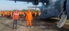 Homens da Defesa Nacional iniciam combate ao incêndio