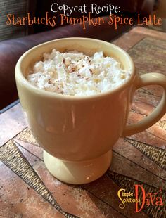 Fall is coming, and nothing heralds the start of fall like Starbucks Pumpkin Spice Latte! It hits the stores this year as early as September but with a reworked recipe that includes real pumpk… Starbucks Pumpkin Spice Latte, Simple Recipes, A Pumpkin, Easy Halloween, Copycat Recipes, Food To Make, Easy Meals, Autumn, Fall