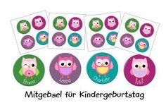 Kindergeburtstag Set EULEN PARTY - personalisiert