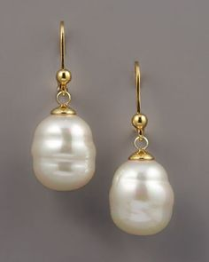 Majorica 12mm Baroque Pearl Drop... $75.00