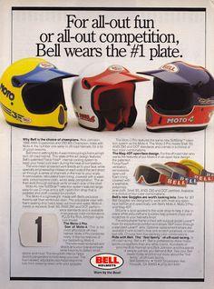 Racing Helmets Garage: Vintage Brochures: Bell Helmets 1987 (Usa)