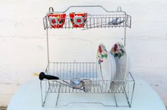 Vintage dish drainer Drying rack Wire dish rack by Retronom