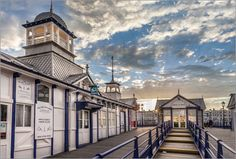 Poster Pier in Eastbourne, East Sussex (England)