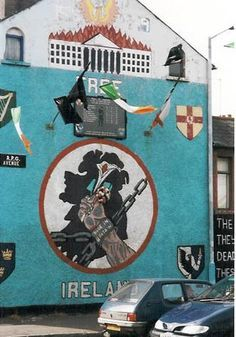 new pinner: The words next to it are: The fools the fools they have left us our Fenian dead and while Ireland holds these graves Ireland unfree shall never be at peace Belfast Titanic, Belfast City, Belfast Bars, Belfast Castle, Belfast Murals, Irish Republican Army, Belfast Ireland, Irish Celtic, Rugs