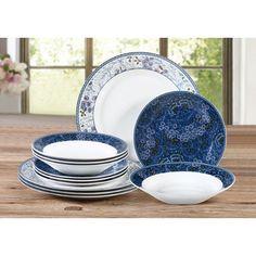 House Additions Garden 12 Pieces Dinnerware Set