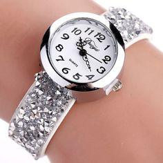 Duoya Crystal Rhinestone Bracelet Watch //Price: $10.59 & FREE Shipping //     #ladieswatch