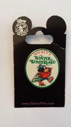Mickey's Winter Wonderland 1996 Disney Pin Trading Collectible Lapel Pins