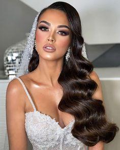 Bridal Hair Updo, Bride Makeup, Wedding Hair And Makeup, Long Hair Wedding Styles, Wedding Hair Down, Long Hair Styles, Short Hair Makeup, Blonde Hair Makeup, Quinceanera Hairstyles