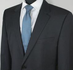 BOSS Hugo Boss Black 2-Button The Grand Central Suit 40R New #HUGOBOSS #TwoButton