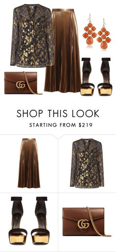 """""""195"""" by vicinogiovanna ❤ liked on Polyvore featuring A.L.C., L.K.Bennett, Balmain, Gucci and 1st & Gorgeous by Carolee"""