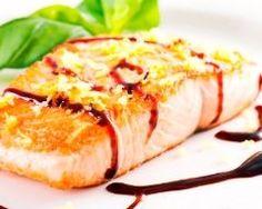 Pavés de saumon au vinaigre balsamique