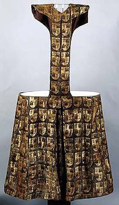 Pellote of Fernando de la Cerda from gold brocade, decorated by generic coat of arm, Convent Las Huelgas near Burgos I really wonder how they sat, the pellotes for guys all seem terribly wide in the hips Renaissance Clothing, Medieval Fashion, Medieval Dress, Antique Clothing, Renaissance Costume, Medieval Costume, Historical Costume, Historical Clothing, Historical Photos