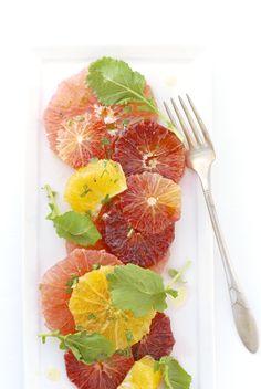 Citrus salad with baby kale | Kumquat barefootstyling.com