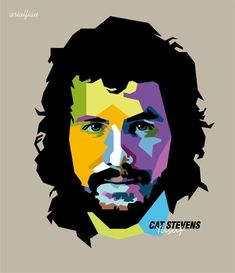 Cat Stevens, Portraits, Caricature, Cats, Fictional Characters, Fun Things, Faces, Music, Gatos