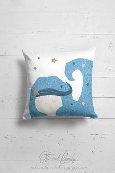 Mermaid pillow nautical nursery decor by OttoandPixelsDesign on Etsy