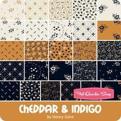 Cheddar & Indigo by Nancy Gere for Windham Fabrics - April 2017