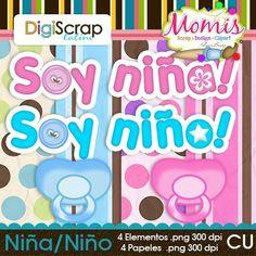 Niña/Niño - $3.00 : DigiScrap Latino