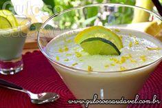 Esta divina Mousse de Limão com Iogurte foi feita com leite condensado caseiro e sem gelatina! Bora fazer esta delicia?  #Receita no link: http://www.gulosoesaudavel.com.br/2013/08/16/mousse-limao-iogurte/
