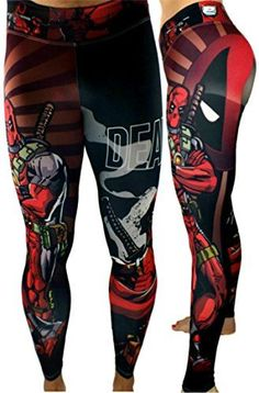 Deadpool Superhero Leggings Yoga Pants Compression Tights...