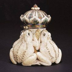 Art Nouveau Toad Inkwell by Tiffany #Antiques #Tiffany