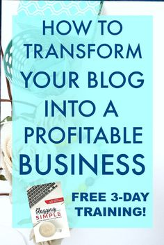 You definitely don't want to miss this training. Whether you have been a blogger for years or you are just starting out, you have the potential to turn a blog into a profitable business. Check out this FREE 3-day video training and get the roadmap to your income goals! Grab your spot now ... space is limited!
