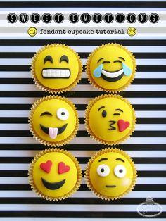 Sweet Emotions Emoji Cupcakes