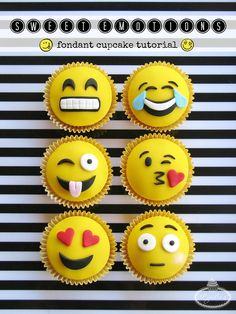 Instructor Lynlee North Beckett's tutorial for 6 cute emoji cupcake toppers is giving us heart eyes 😍