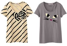 Lulu Guinness collabs with @Uniqlo for limited edition tees! So cute.