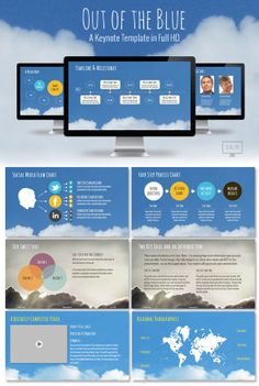 Out of the Blue Presentation Template
