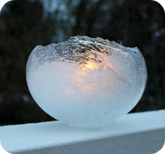 Ice Balloon Lanterns Ice Balloon Lanterns are gorgeous outdoor decorative kids crafts that look so complex but are very simple to make. These lovely homemade winter crafts for kids are so