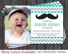 Mustache Birthday Invitation Little Man Mustache Birthday