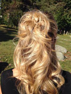 Wedding guest hairstyle... Think I did a pretty good job!