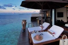 Relax with a panoramic view of the ocean blues at #lilybeachresort #Maldives