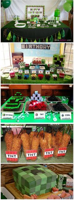 Essen im Minecraft-Stil