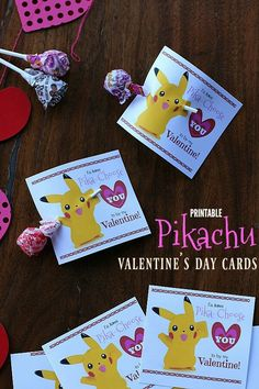 These fun Printable Pikachu Valentine's Day Cards are sure to thrill kids of all ages! Grab the FREE printable! Pokemon Valentine Cards, Cute Valentines Day Cards, Valentine Day Boxes, Valentines For Boys, Valentine Day Crafts, Valentine Ideas, Valentine Party, Holiday Crafts For Kids, Holiday Fun