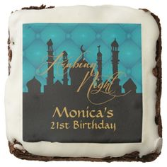Arabian Night, 30th Birthday, Custom Brownies