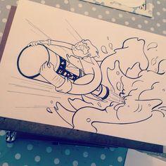 Rocketbeer 1 #illustration #art #beer #rocketboy #promarkers